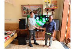 Lắp đặt dàn karaoke gia đình chú Hùng tại Thanh Hóa (Domus DK612, BKSound DKA 8500, SW512-B)