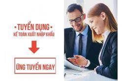 Tuyển dụng : Nhân viên Kế toán xuất nhập khẩu (biết thuế)