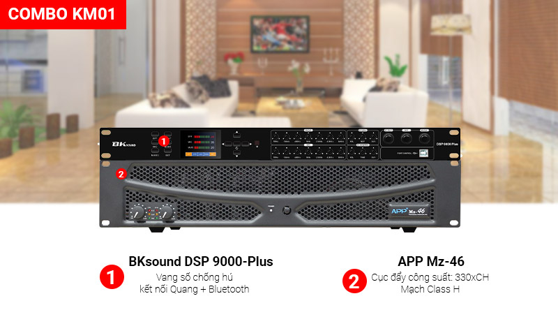 Combo KM01 (APP MZ46 + Bksound DSP-9000 Plus)