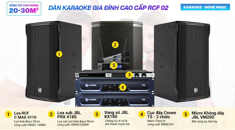Dàn karaoke gia đình cao cấp RCF 02
