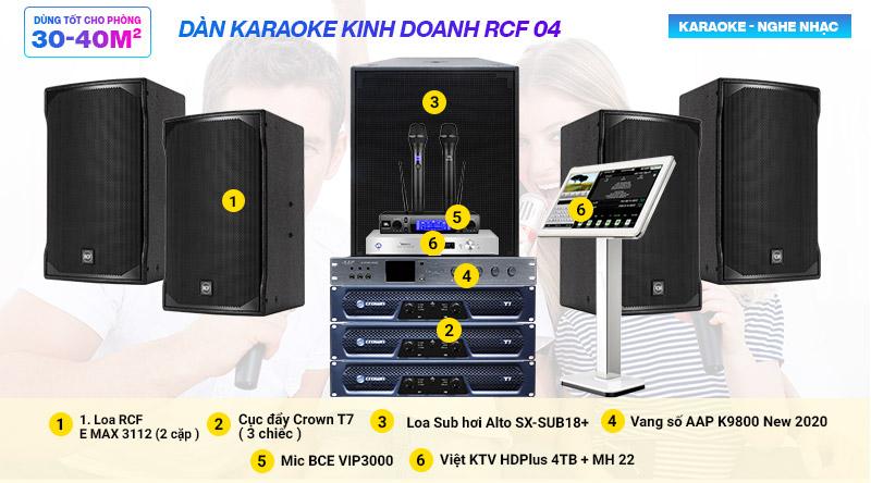 Dàn karaoke kinh doanh RCF 04