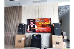 Lắp đặt dàn karaoke gia đình anh Hồ tại TP HCM (JBL XS12, Xli3500, AAP K9800, SPL120, BCE VIP 3000)