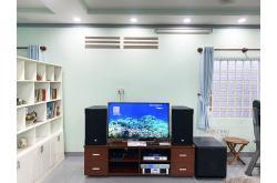 Lắp đặt dàn karaoke gia đình cô Hồng tại TP HCM (RCF CMAX 4112, Famousound 7208, AAP K9800,VM300...)