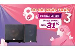 Loa sub karaoke đang giảm sốc linh đình, có mẫu giảm tới 31%, nhanh tay ngay