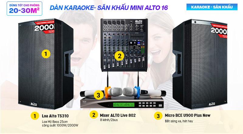 Dàn karaoke- Sân khấu Mini Alto 16