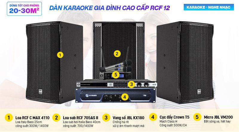 Dàn karaoke gia đình cao cấp RCF 12