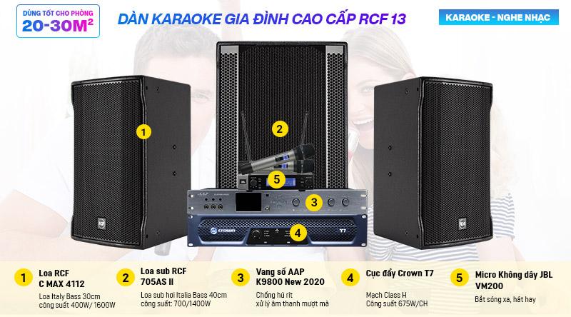 Dàn karaoke gia đình cao cấp RCF 13