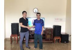 Lắp đặt dàn karaoke gia đình anh Hải tại Quảng Ninh (BIK BSP 412, BKSound DKA 6500, SW612-C)