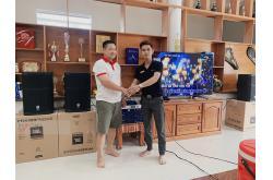 Lắp đặt dàn karaoke gia đình anh Sơn tại Bình Phước (JBL PRX 412M, Crown T7, KX180, VM200...)