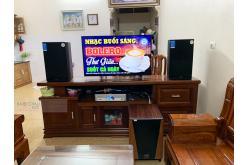 Lắp đặt dàn karaoke gia đình chị Thương tại Hà Nội (Philips CSS1622/93HE10, DKA 8500, BW604GS)