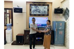 Lắp đặt dàn karaoke gia đình cô Tình tại Hà Nội (BIK BJ-S668, APP MZ-46, DSP9000 Plus, SW612C)