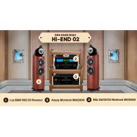Dàn nghe nhạc Hi-End 02 (B&W 802 D3 Rosenut + McIntosh MA12000+ McIntosh MCD600)