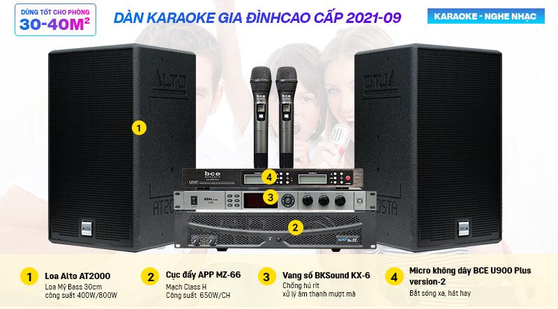 Dàn karaoke gia đình cao cấp 2021-09