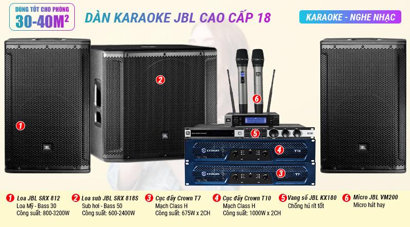 Dàn karaoke JBL cao cấp 18