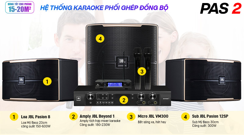 Dàn karaoke JBL PAS 2