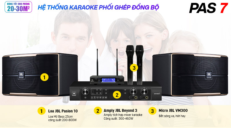Dàn karaoke JBL PAS 7