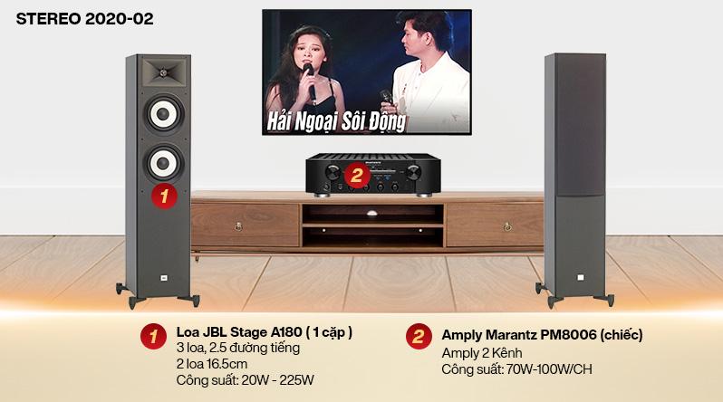 Dàn nghe nhạc 2 kênh Stereo 2020-02 ( 20-30m2)