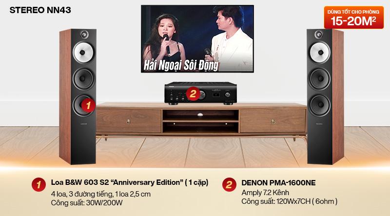 Dàn nghe nhạc 2 kênh Stereo NN43