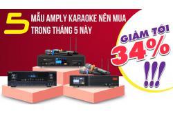5 mẫu Amply karaoke giảm đến 34% nên mua trong tháng 5 này