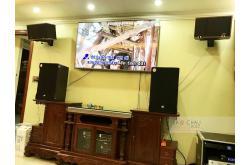 Lắp đặt dàn karaoke gia đình anh Chiến tại Bắc Ninh (RCF CMAX 4112, Crown T10, K9900II, BJ-W88...)
