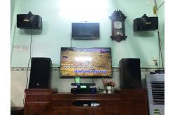 Lắp đặt dàn karaoke gia đình anh Lưu tại TP HCM (RCF EMAX 3112, VM840A, BPR8500...)
