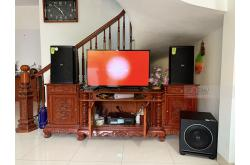 Lắp đặt dàn karaoke gia đình anh Sơn tại Hà Nội (Domus DP6120, DKA8500, Paramax Sub1000 New)