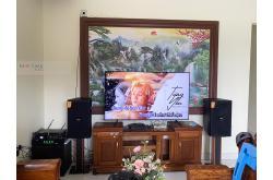 Lắp đặt dàn karaoke gia đình anh Thưởng tại Hải Phòng (Domus DK612S, TX650Q, DSP9000 Plus, SW715)