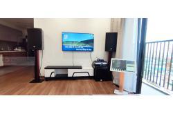 Lắp đặt dàn karaoke gia đình chị Liên tại TP HCM (EMAX 3112, VM620A, KX180, SW312B, VM200, 4TB Plus...)