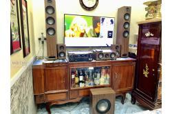Lắp đặt dàn nghe nhạc cho anh Phi tại TP HCM (Jamo S809, Denon AVR-X2700H, Jamo S810)