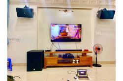 Lắp đặt dàn karaoke gia đình anh Dương tại Bình Dương (KP4012, VM840A, KX180, SX-SUB 18+, VM300)