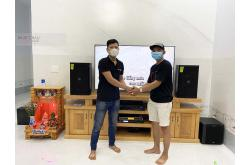 Lắp đặt dàn karaoke gia đình anh Mai tại Đồng Nai (Domus DP6120, VM620A, X5 Plus, BCE UGX12)