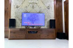 Lắp đặt dàn karaoke gia đình chị Thủy tại Hà Nội (CMAX 4112, Xli3500, KX180, A120P, VM200, 4TB Plus)