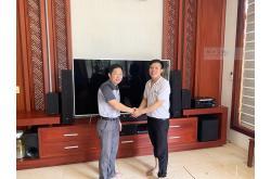 Lắp đặt dàn nghe nhạc anh Văn Anh tại Nghệ An (RP-4000F, R-51M, R-52C, R120SW, Denon X-2700H)