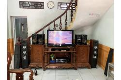 Lắp đặt dàn nghe nhạc cho anh Đông tại Hà Nội (Jamo C97II, Denon DRA-800H)