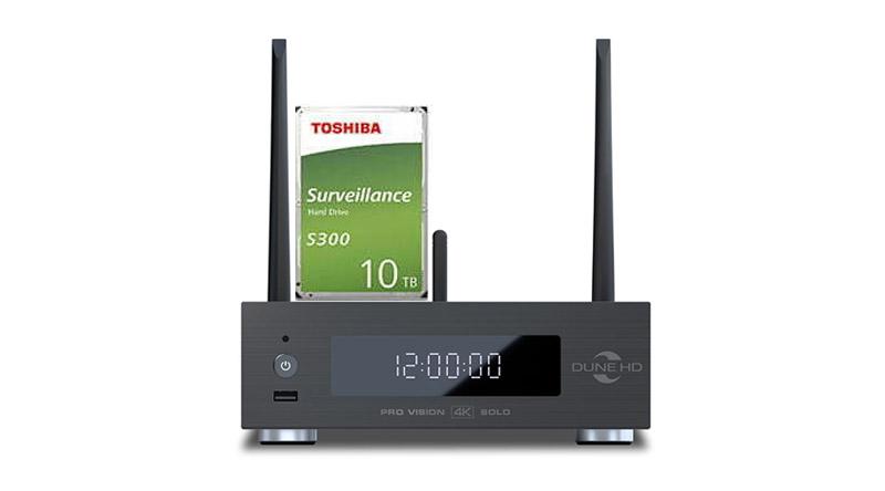 Combo đầu Dune HD Pro Vision 4K Solo và ổ Toshiba 10TB S300