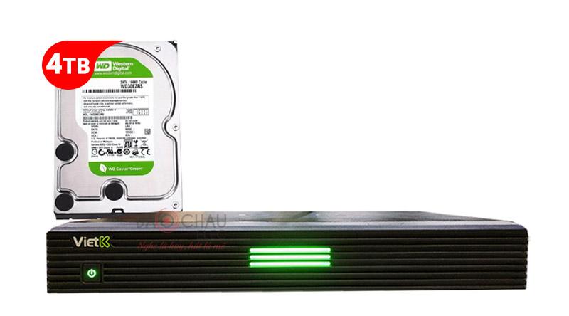 Combo Đầu VietK 4K Plus 4TB + Màn VietK 22 inch