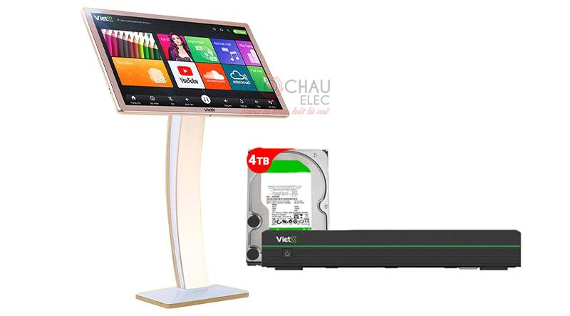 Combo Đầu VietK 4K Pro 4TB + Màn VietK 21 inch