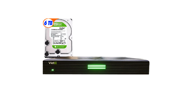 Combo Đầu VietK Plus 6TB + Màn VietK 21 inch