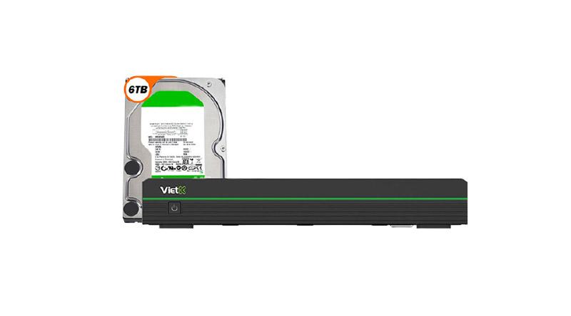 Combo Đầu VietK Pro 6TB + Màn VietK 27 inch