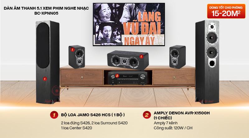 Dàn âm thanh 5.1 xem phim nghe nhạc BC-XPNN05