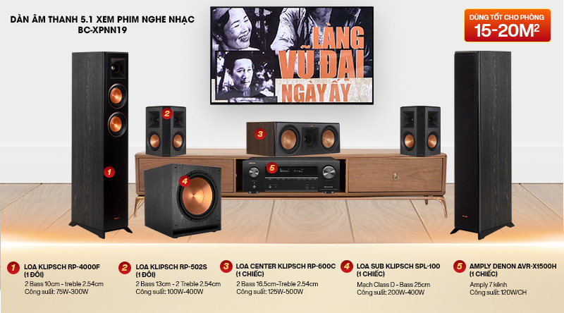 Dàn âm thanh 5.1 xem phim nghe nhạc BC-XPNN19