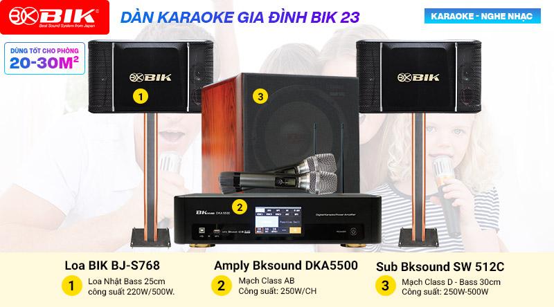 Dàn karaoke gia đình cao cấp BIK 23