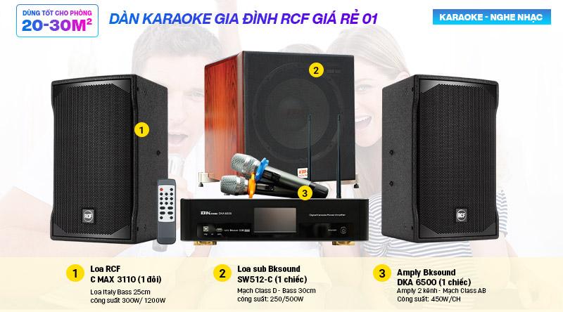 Dàn karaoke gia đình RCF giá rẻ 01