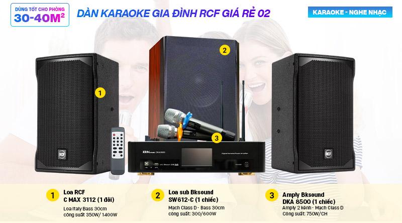Dàn karaoke gia đình RCF giá rẻ 02