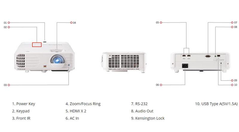 Máy Chiếu 4K Viewsonic PX701-4K