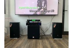 Lắp đặt dàn karaoke anh Chung tại Hà Nội (JBL MTS10, VM420A, X6 Luxury, SW512B, U900 Plus X)