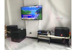 Lắp đặt dàn karaoke gia đình anh Chiến tại TP HCM (JBL CV1252T, TX800Q, BPR-8500, JBL CV18S, BJ-U550)