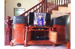 Lắp đặt dàn karaoke gia đình anh Cường tại Bắc Ninh (BIK BJ-S668, APP MZ-46, DSP9000 Plus, U900 Plus)