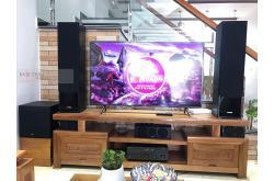 Lắp đặt dàn nghe nhạc chị Linh tại Hải Phòng (Yamaha NS-F71, NS-P150, NS-W100, Yamaha RX-V385)