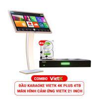 Combo Đầu VietK 4K Plus 4TB + Màn VietK 21 inch